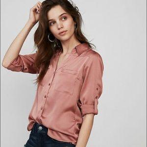 Express Convertible Sleeve Slim Portofino Shirt